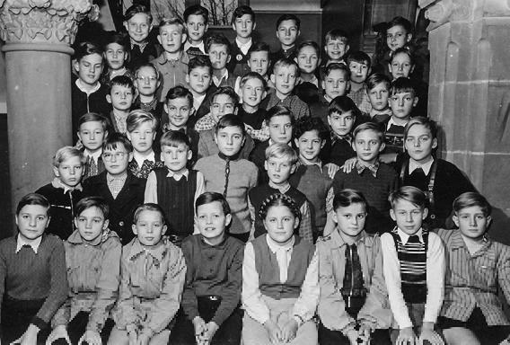 allein unter Jungen: die Quinta des Jahrgangs 1956